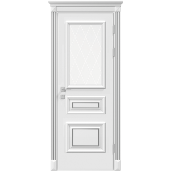 Siena Rossi ПО (рисунок) Белый мат патина серебро