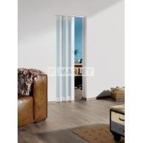 Двери гармошка Структурированное стекло