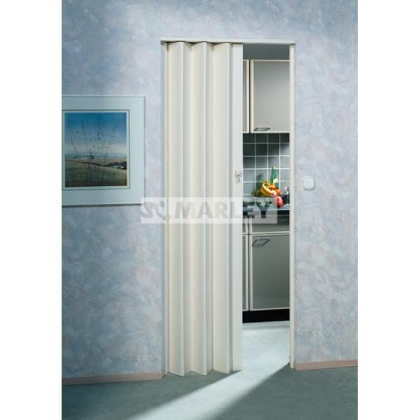 Двери гармошка Eurostar Белый