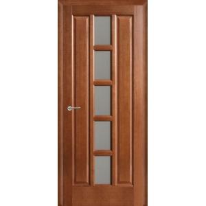 Межкомнатная дверь Квадро ПО (каштан)